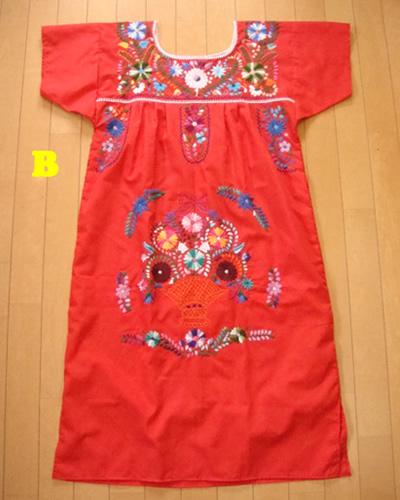 画像4: メキシコ刺繍ワンピース red