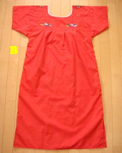 画像5: メキシコ刺繍ワンピース red