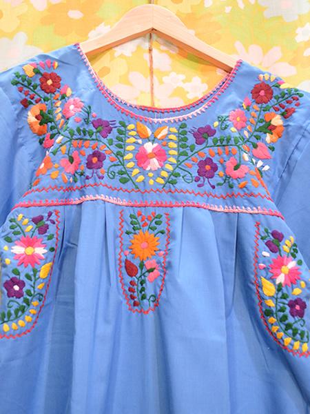 画像3: メキシコ刺繍ワンピース 23