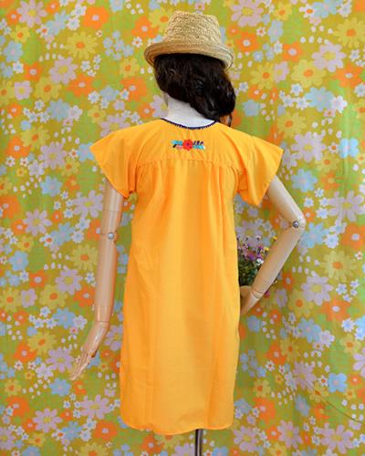 画像3: メキシコ刺繍ワンピース yellow