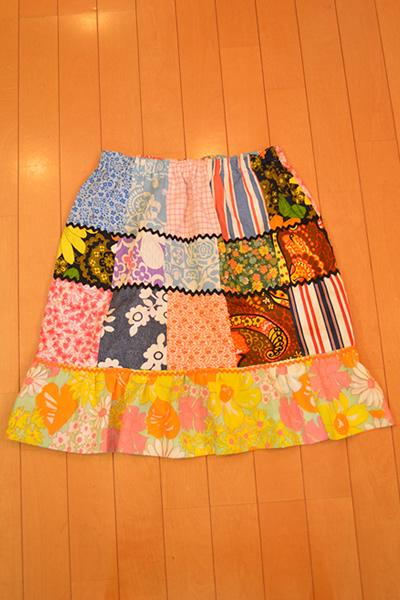 画像1: パッチワークギャザースカート