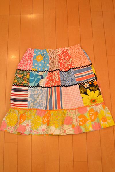 画像2: パッチワークギャザースカート