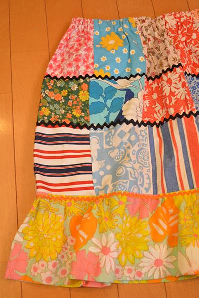 画像3: パッチワークギャザースカート