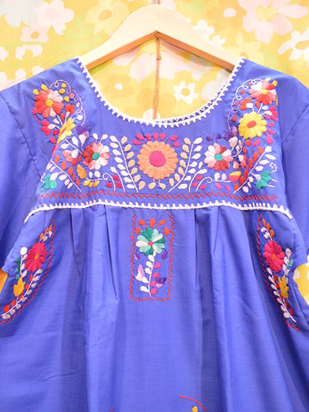 画像3: メキシコ刺繍ワンピース 21