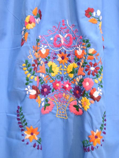 画像2: メキシコ刺繍ワンピース 23