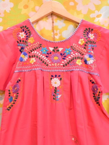 画像3: メキシコ刺繍ワンピース 17