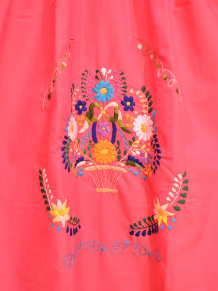 画像2: メキシコ刺繍ワンピース 17