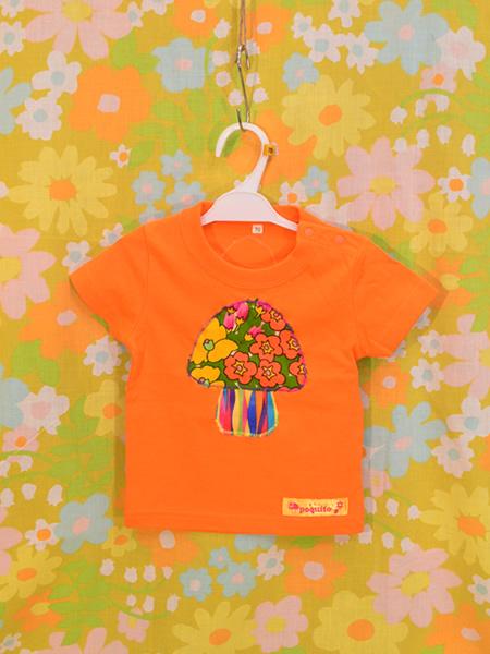 KID'SきのこTシャツ 70 ORANGE